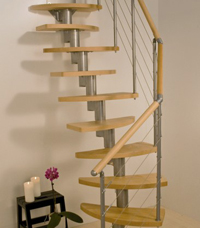 Stylish SpaceSaving Compact Stairs And Spiral Staircases In Surrey - Compact stairs